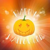 Fondo del feliz Halloween con la calabaza Imágenes de archivo libres de regalías