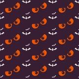 Fondo del feliz Halloween Modelo inconsútil Imagen de archivo libre de regalías