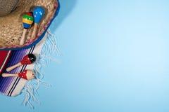 Fondo del festival de Cinco de Mayo en azul Imagen de archivo