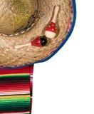 Fondo del festival de Cinco de Mayo en blanco Imágenes de archivo libres de regalías