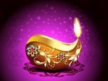 Fondo del festival de Diwali con Rangoli Fotografía de archivo