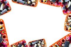 Fondo del filo colorato Fotografia Stock
