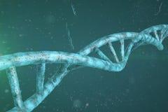 Fondo del filo del DNA Fotografia Stock