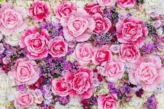 Fondo del fiore artificiale Fotografia Stock Libera da Diritti