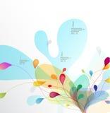 Fondo del fiore colorato estratto con i cerchi Fotografia Stock