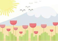 Fondo del fiore di fantasia illustrazione di stock