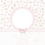 Fondo del fiore di rosa di bambino royalty illustrazione gratis