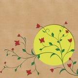 Fondo del fiore e della luna Fotografia Stock