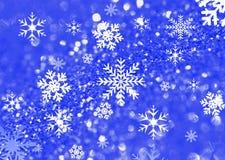 Fondo del flacke della neve Fotografia Stock