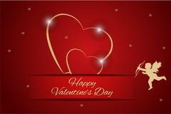 Fondo del fondo de los corazones del día de tarjetas del día de San Valentín ilustración del vector