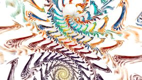 Fondo del fractal con espiral brillante abstracto Alto lazo detallado almacen de metraje de vídeo