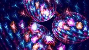 Fondo del fractal con formas abstractas de la faceta del rollo Alto lazo detallado ilustración del vector