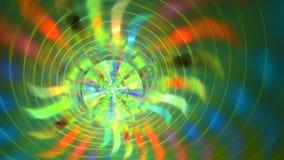 Fondo del fractal con formas abstractas del espiral del rollo Alto lazo detallado almacen de metraje de vídeo