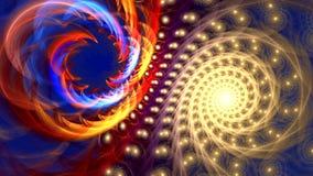 Fondo del fractal con formas curvadas del rollo abstracto Alto lazo detallado almacen de metraje de vídeo