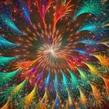 Fondo del fractal Red oscura Imagenes de archivo