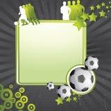 Fondo del fútbol Imágenes de archivo libres de regalías