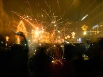 Fondo del fuego artificial Foto de archivo libre de regalías
