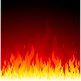Fondo del fuego del vector Foto de archivo libre de regalías