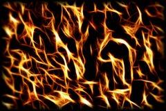 Fondo del fuego y de las llamas Imágenes de archivo libres de regalías