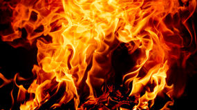 Fondo del fuoco Fotografia Stock Libera da Diritti
