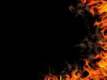 Fondo del fuoco Fotografie Stock