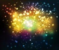 Fondo del fuoco d'artificio Immagini Stock Libere da Diritti