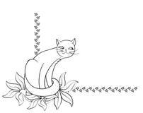 Fondo del gato Foto de archivo libre de regalías