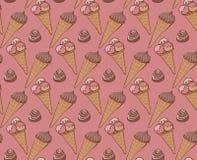 Fondo del gelato dei dolci illustrazione di stock