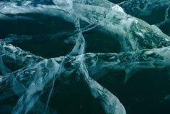 Fondo del ghiaccio nero Fotografia Stock Libera da Diritti