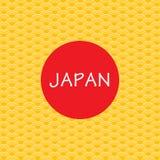Fondo del giapponese dell'oro Fotografia Stock