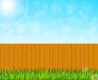 Fondo del giardino del cortile illustrazione vettoriale