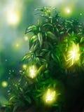 Fondo del giardino di fiaba Immagine Stock Libera da Diritti