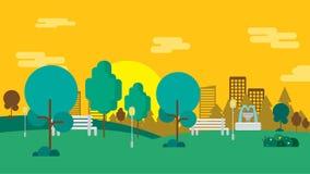 Fondo del giardino pubblico illustrazione vettoriale