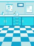 Fondo del gioco dell'ufficio di medico dell'animale domestico del fumetto fotografia stock libera da diritti