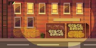 Fondo del gioco della città illustrazione vettoriale