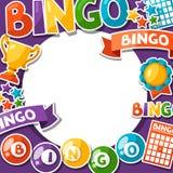 Fondo del gioco di lotteria o di bingo Fotografia Stock