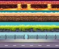 Fondo del gioco di vettore di 4 Tileable illustrazione vettoriale