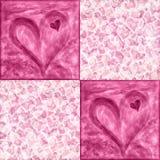 Fondo del giorno del biglietto di S. Valentino con i cuori royalty illustrazione gratis