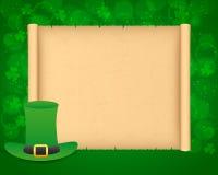 Fondo del giorno di St Patrick con pergamena Immagine Stock Libera da Diritti