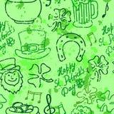 Fondo del giorno di St Patrick senza cuciture. vettore Royalty Illustrazione gratis