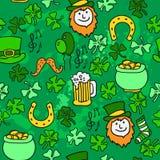 Fondo del giorno di St Patrick senza cuciture. vettore Illustrazione di Stock