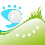 Fondo del golf con la bola. Imágenes de archivo libres de regalías