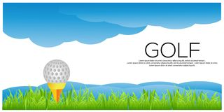 Fondo del golf del vector Bandera com?n del golf libre illustration