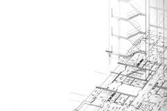 Fondo del gráfico arquitectónico stock de ilustración
