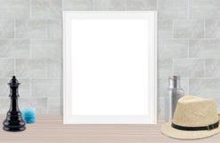Fondo del gris del marco de Hoto Imagen de archivo libre de regalías