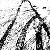Fondo del Grunge con la pista negra del neumático Ilustración del vector libre illustration