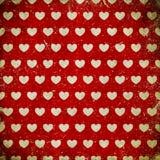 Fondo del Grunge con los corazones Fotografía de archivo libre de regalías
