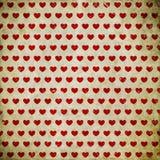 Fondo del Grunge con los corazones Imagen de archivo