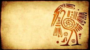 Fondo del Grunge con los modelos tradicionales indios americanos Imagen de archivo