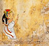 Fondo del Grunge con vieja textura del estuco y la diosa egipcia I libre illustration